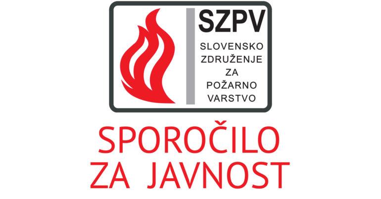 SPOROČILO ZA JAVNOST: Opozorila in zahteve s strani stroke za spremembo požarne zakonodaje