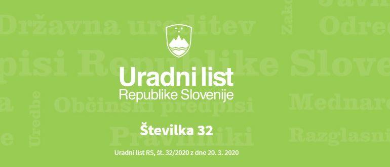 Odlok o začasni prepovedi izvajanja nadzora vgrajenih sistemov aktivne požarne zaščite in rednega tehničnega nadzora hidrantnega omrežja v Republiki Sloveniji